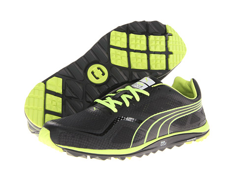 PUMA Golf - FAAS Lite Mesh (Black/Fluo Yellow) Men's Golf Shoes
