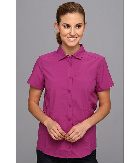 Mountain Hardwear - Canyon S/S Shirt (Berry Jam) Women's Short Sleeve Button Up