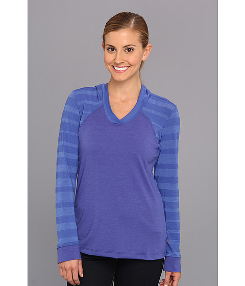 Mountain Hardwear - DrySpun Burnout L/S Hoodie (Cornflower) Women's Sweatshirt