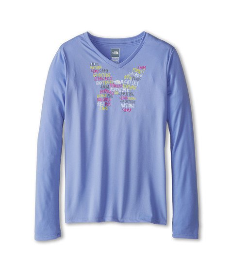 The North Face Kids - Camp TNF L/S Tee (Little Kids/Big Kids) (Lavendula Purple) Girl's T Shirt