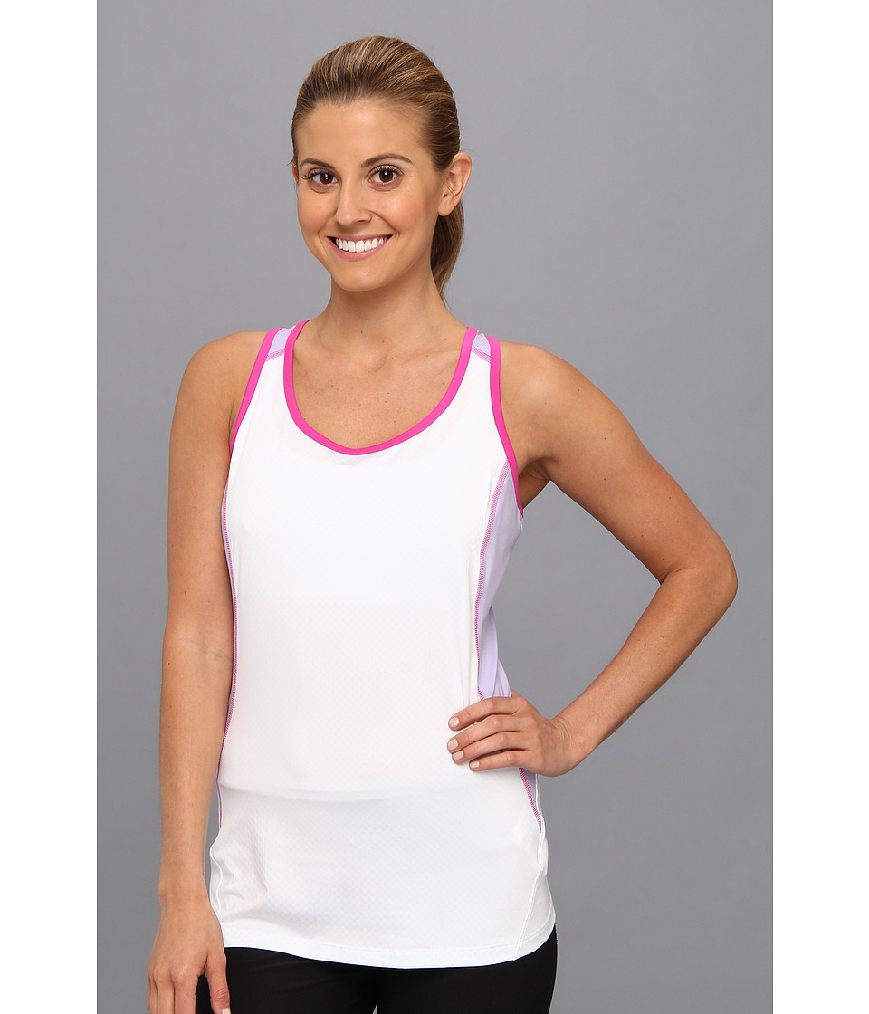 Columbia - Freeze Degree Tank Top (White/Whitened Violet/Groovy Pink) Women's Sleeveless