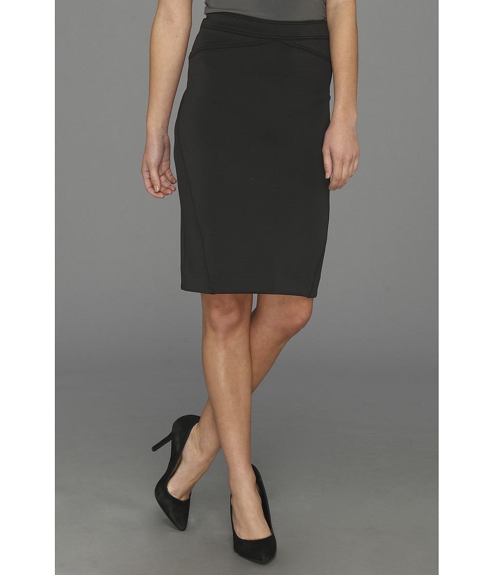 Nicole Miller Ava Neoprene Skirt Womens Skirt (Black)