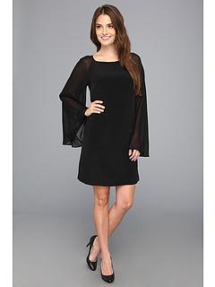 SALE! $81.99 - Save $193 on Nicole Miller Elizabeth Bell Sleeve Tunic Dress (Black) Apparel - 70.19% OFF $275.00