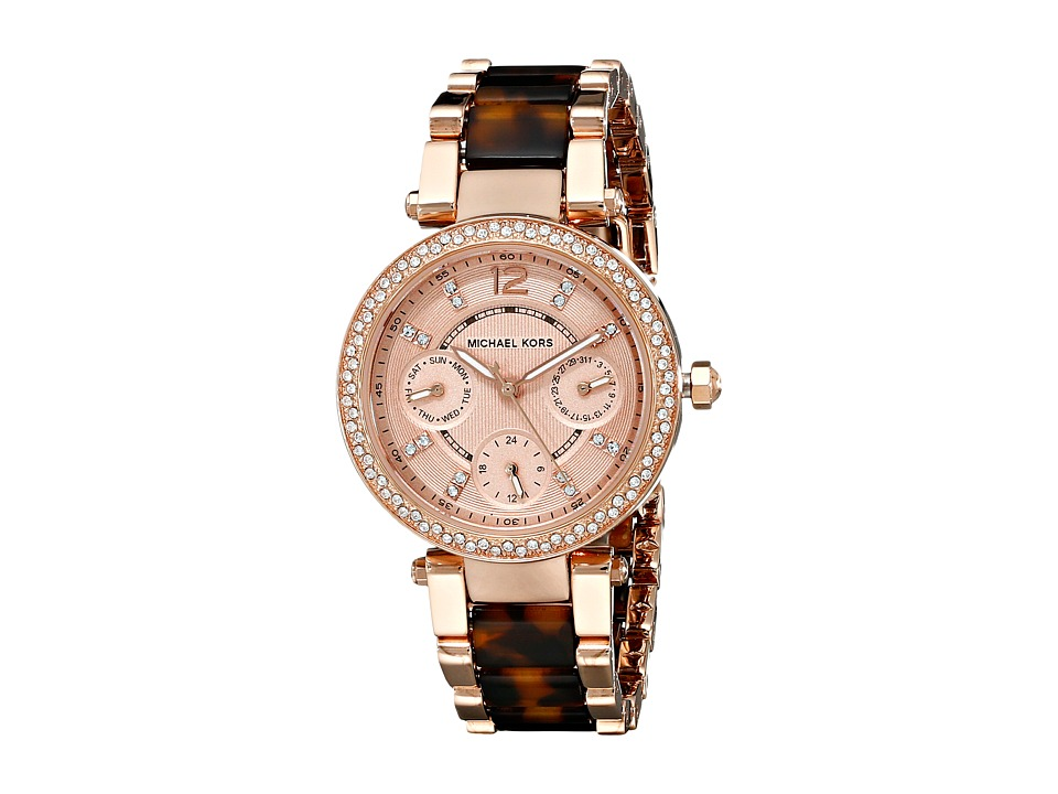 Michael Kors - MK5841 - Mini Parker (Tortoise/Rose Gold) Watches