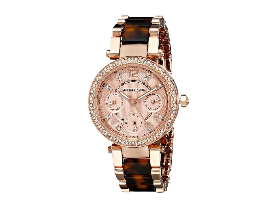 Michael Kors - MK5841 - Mini Parker (Tortoise/Rose Gold) Watches