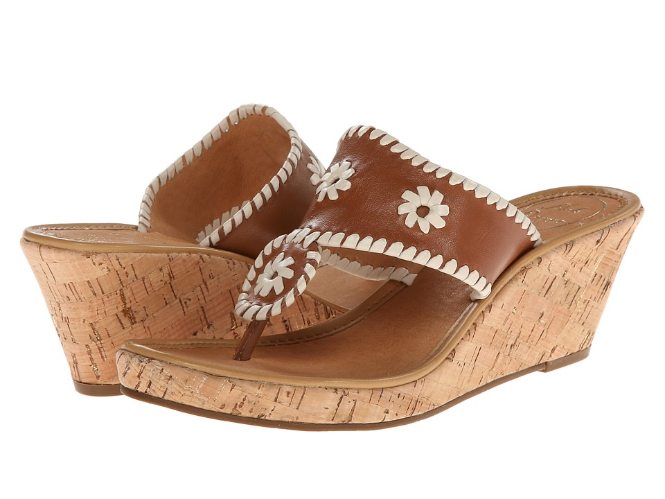Jack Rogers - Marbella Mid (Cognac/Bone) Women's Dress Sandals