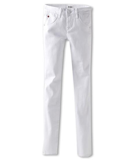 Hudson Kids - Collin Skinny w/ Flap Back Pocket (Big Kids) (White) Girl's Jeans