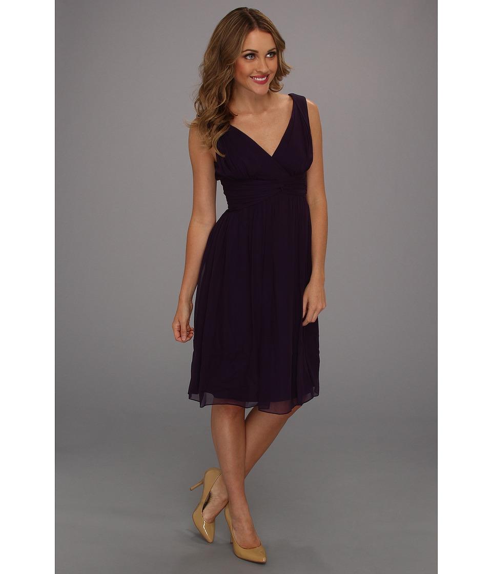 Donna Morgan - Jessie Silk Chiffon Dress (Amethyst) Women's Dress