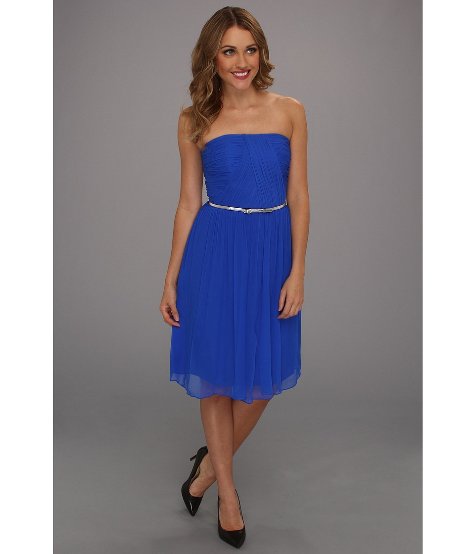 Donna Morgan - Donna Strapless Belted (Brazilian Blue) Women's Dress