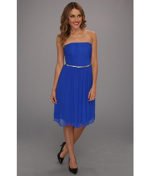 Donna Morgan - Donna Strapless Belted (Brazilian Blue) Women