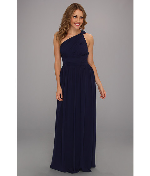 Donna Morgan - One Shoulder Strapless Gown - Rachel (Midnight) Women's Dress