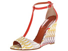 Missoni - Crochet Wave T-Strap Wedge (Red/Yellow/Multi) - Footwear