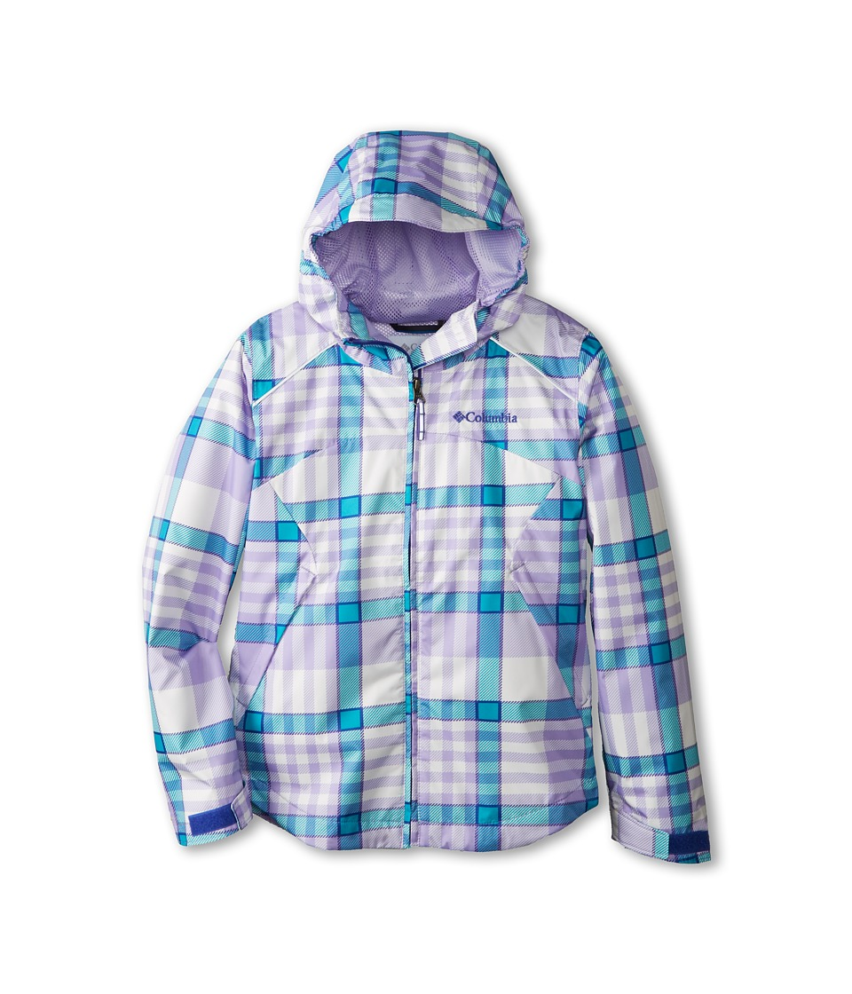 Columbia Kids - Wet Reflect Jacket (Little Kids/Big Kids) (Purple Lotus Plaid) Girl's Coat