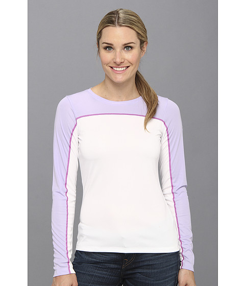 Columbia - Insect Blocker Knit L/S Shirt (White/Whitened Violet/Groovy Pink) Women