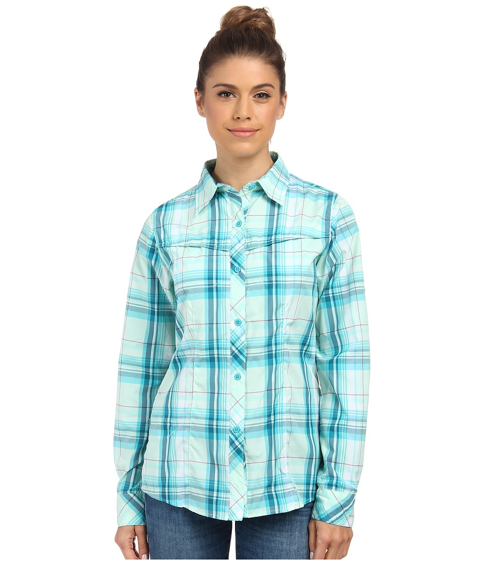 Columbia - Insect Blocker Plaid L/S Shirt (Geyser Plaid 2) Women's Long Sleeve Button Up