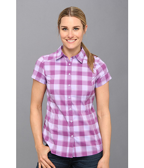 Columbia - Saturday Trail II Plaid Shirt (Whitened Violet Plaid) Women's Short Sleeve Button Up