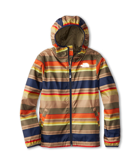 The North Face Kids - Grove Wind Jacket (Little Kids/Big Kids) (Burnt Olive Green Print) Boy