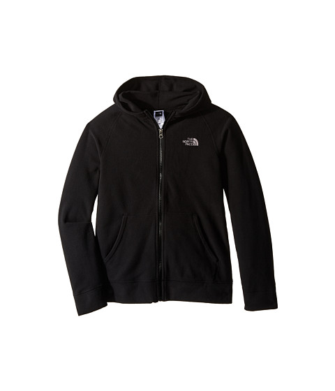 The North Face Kids - Glacier Full Zip Hoodie (Little Kids/Big Kids) (TNF Black) Boy