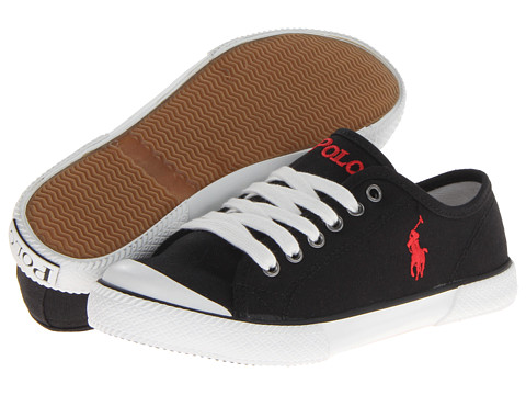 Polo Ralph Lauren Kids - Chaz (Big Kid) (Black Canvas) Boy's Shoes