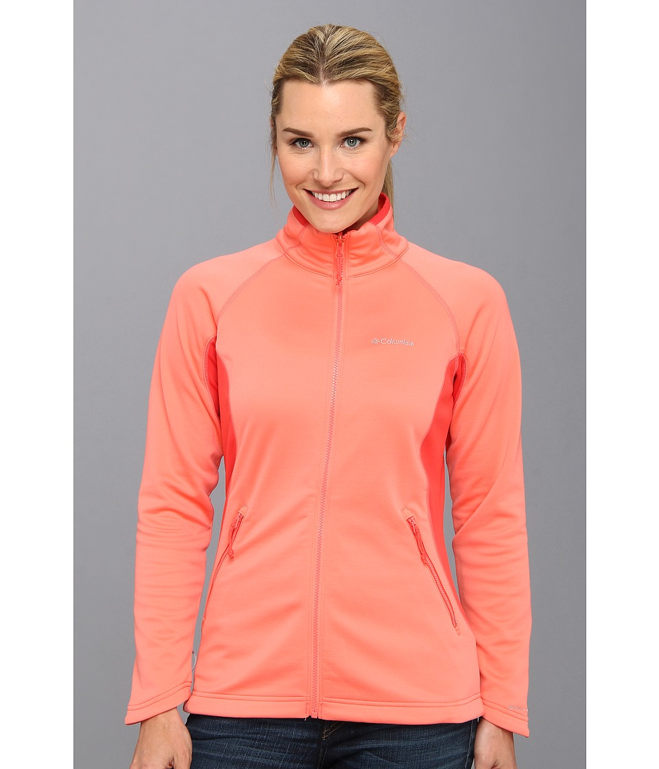 Columbia Evap-Change Fleece Jacket (Hot Coral/Red Hibiscus) Women