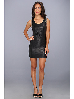 SALE! $81.99 - Save $120 on Tbags Los Angeles Laser Cut Sleeveless Mini Dress w Shoulder Embroidery (Black Laser Cut) Apparel - 59.41% OFF $202.00