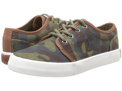 Polo Ralph Lauren Kids - Ethan Low (Little Kid) (Army Camouflage Canvas) Boys Shoes