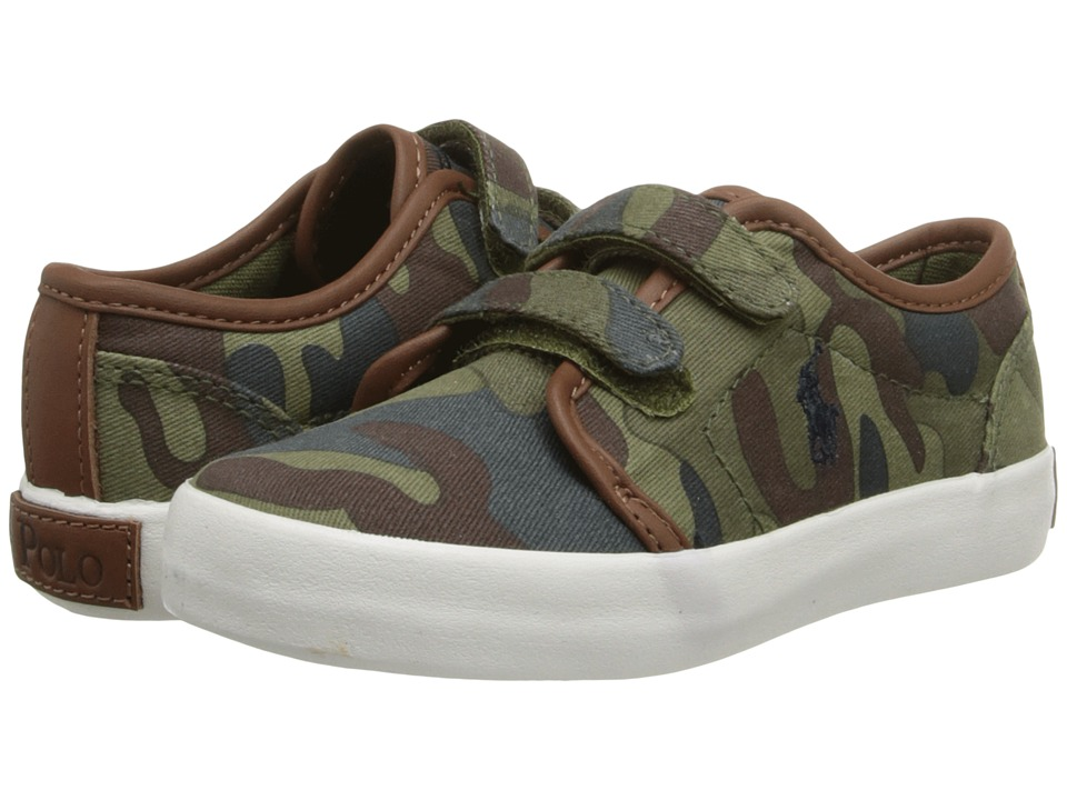 Polo Ralph Lauren Kids - Ethan Low EZ (Infant/Toddler) (Army Gamouflage Canvas) Boy's Shoes