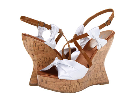 MIA - Isabella (White Satin) Women's Wedge Shoes