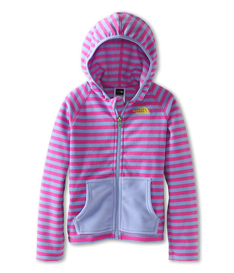 The North Face Kids - Novelty Glacier Full Zip Hoodie (Toddler) (Azalea Pink Stripe/Lavendula Purple/Energy Yellow) Girl