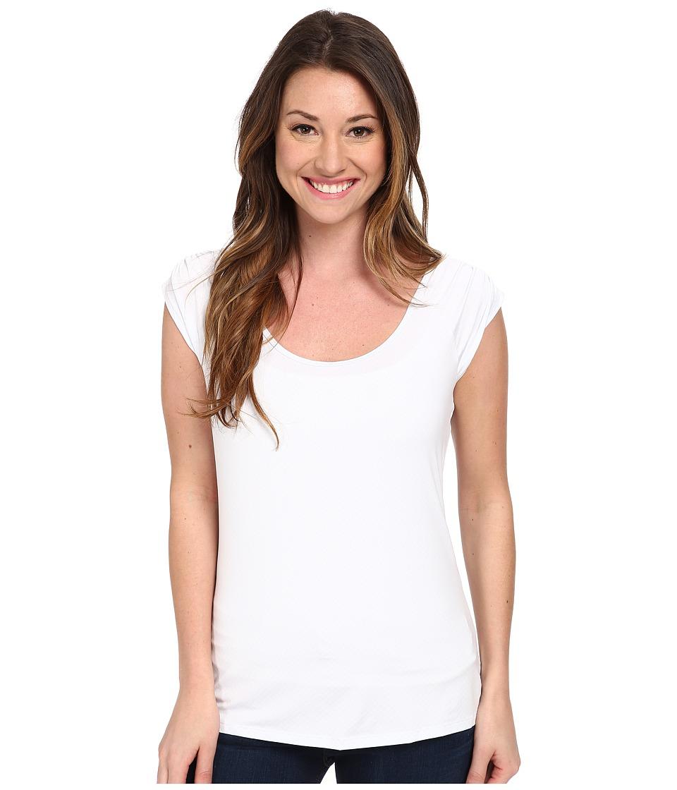 Columbia - PFG Zero S/S Shirt (White) Women's Short Sleeve Pullover