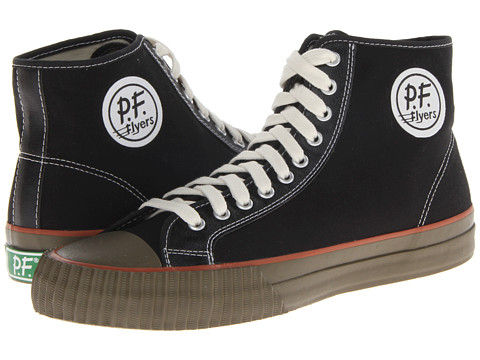 PF Flyers - Center Hi (Black Canvas 4) Lace up casual Shoes