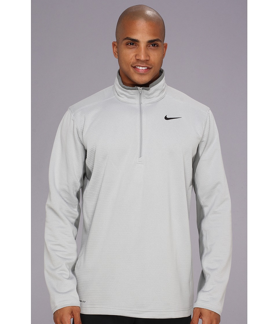 Nike - Sphere Half-Zip Top (Base Grey/Medium Base Grey/Black) Men