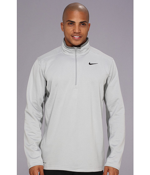 Nike - Sphere Half-Zip Top (Base Grey/Medium Base Grey/Black) Men's T Shirt
