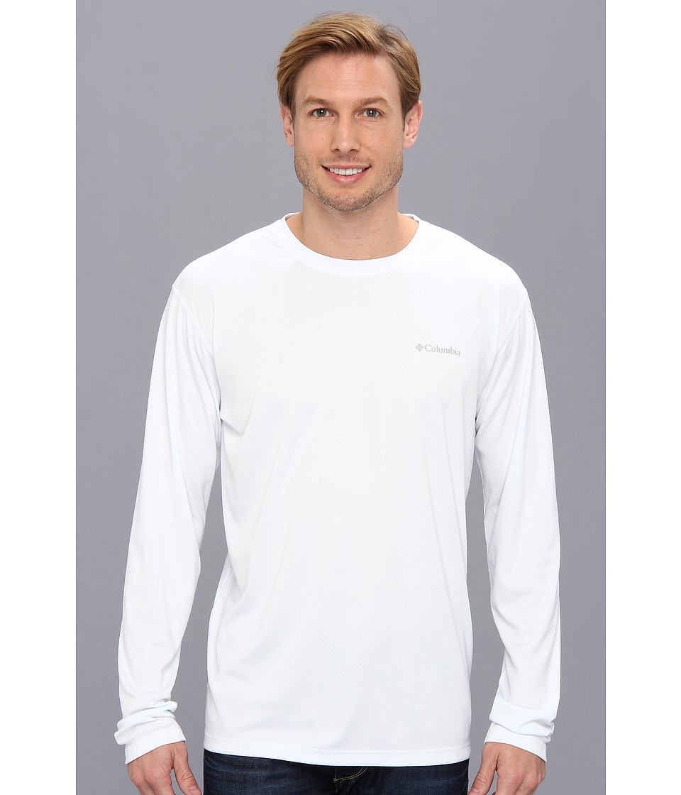 Columbia - Zero Rules L/S Shirt (White) Men's Long Sleeve Pullover
