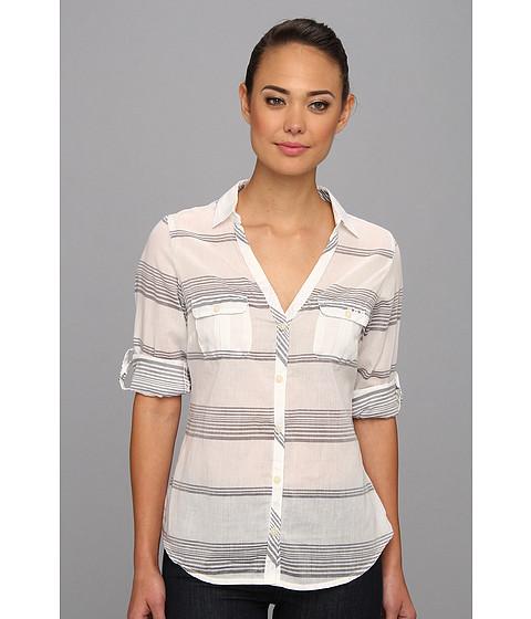 Columbia - Sun Drifter L/S Shirt (Collegiate Navy Stripe) Women's Long Sleeve Button Up