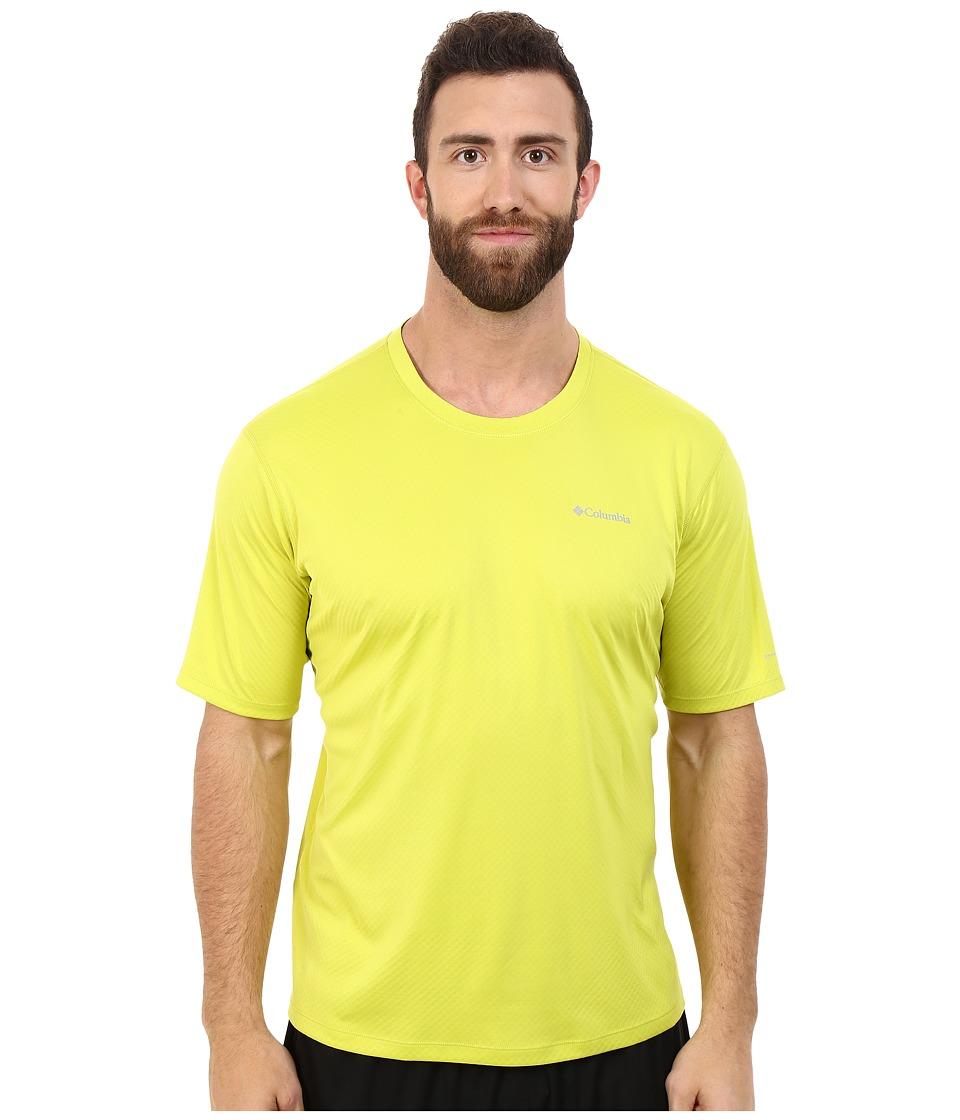 Columbia - Zero Rules S/S Shirt - Big (Chartreuse) Men's Short Sleeve Pullover