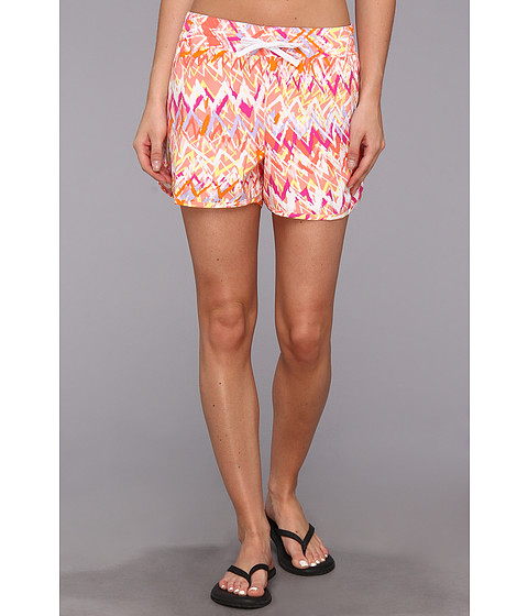 Columbia - Cool Coast Short (Red Hibiscus Chevron Print) Women's Shorts