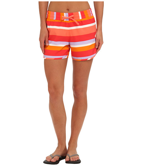 Columbia - Cool Coast Short (Hot Coral Multi Stripe) Women's Shorts