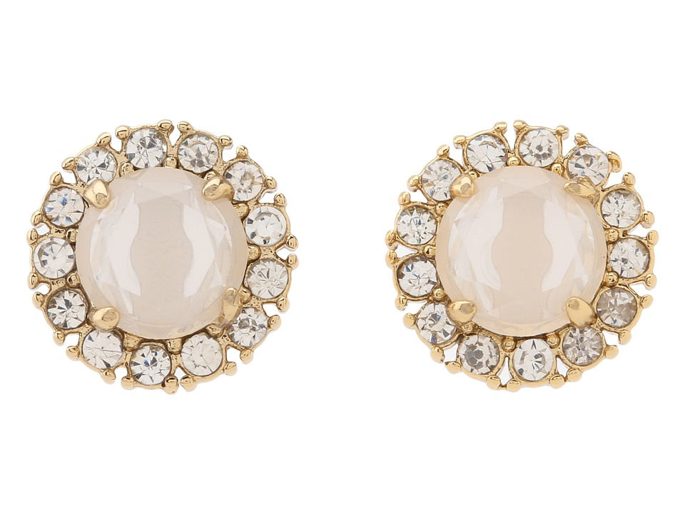 Kate Spade New York - Secret Garden Stud Earrings (White/Clear) Earring