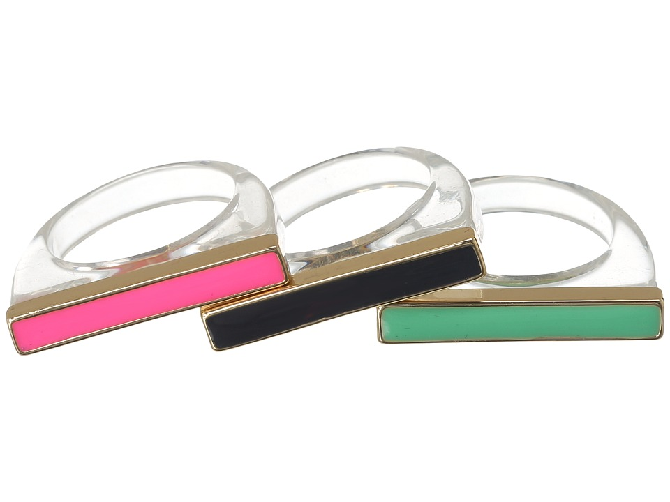 Kate Spade New York - Brighton Rock Ring Set (Clear/Multi) Ring