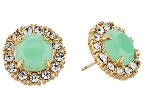 Kate Spade New York - Secret Garden Stud Earrings (Bud Green/Clear) Earring