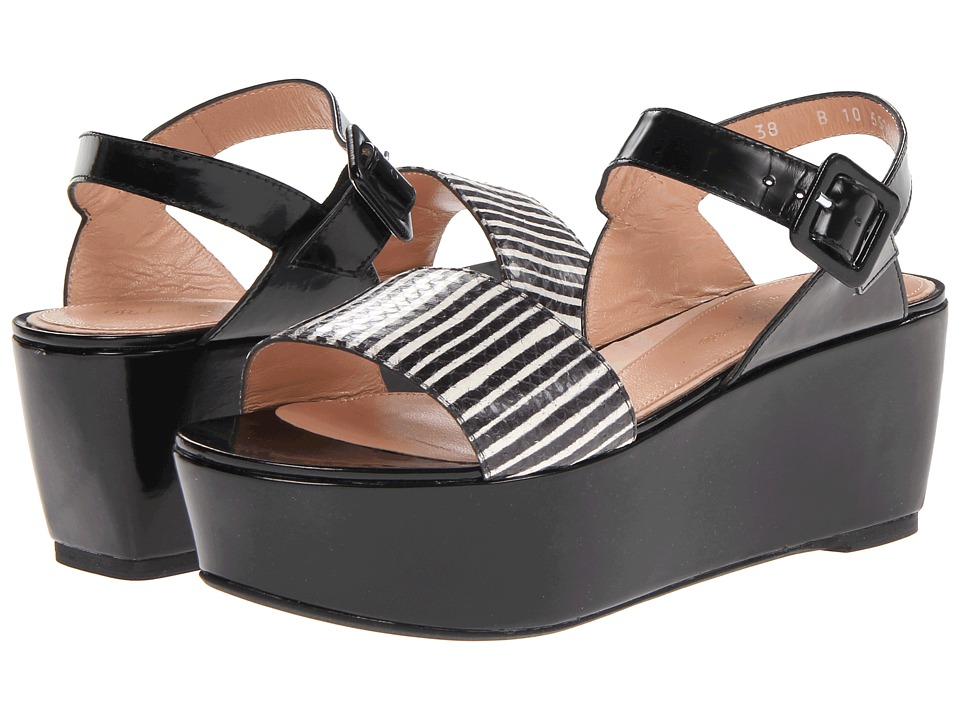 Robert Clergerie - Fraks (#997 Black White Serp) Women's Shoes