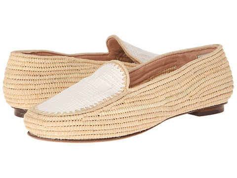 Robert Clergerie - Gracia (#112 White Weave) Women's Slip on Shoes