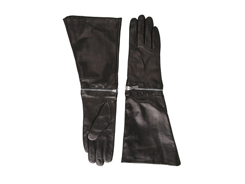 Rachel Zoe - Zip Off Gauntlet Glove (Black) Lifting Gloves