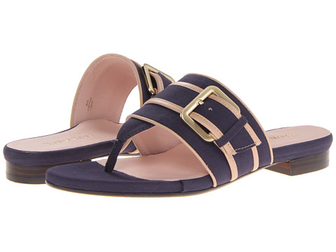 Taryn Rose - Ikia (Navy Blue Soft Poplin) Women's Sandals