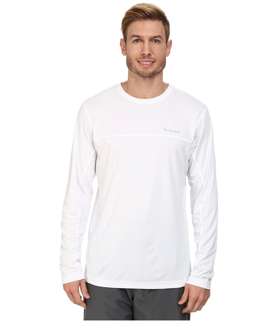 Columbia - Insect Blocker Knit L/S Shirt (White) Men's Long Sleeve Pullover
