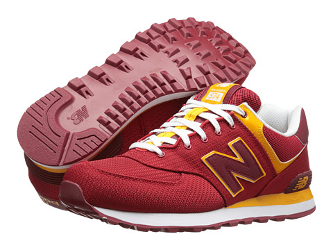 New Balance Classics - M574 (Red/Yellow) Men