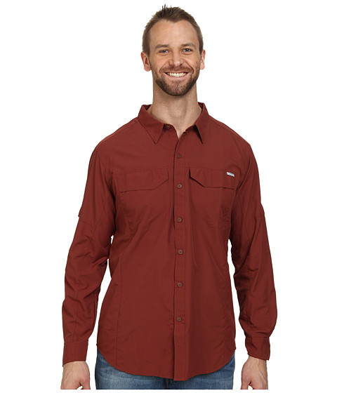 Columbia - Big Tall Silver Ridge L/S Shirt (Red Rocks) Men's Long Sleeve Button Up