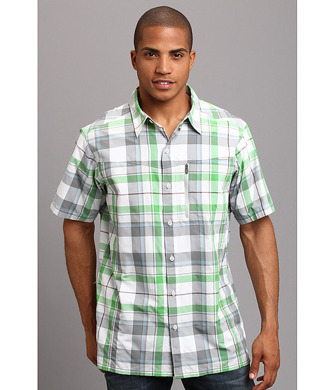Columbia - Silver Ridge Plaid S/S Shirt (Clean Green Large Plaid) Men's Short Sleeve Button Up
