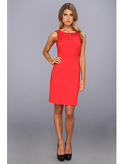 SALE! $46.99 - Save $111 on Tahari by ASL Petite Petite Vivianlee Dress (Red) Apparel - 70.26% OFF $158.00